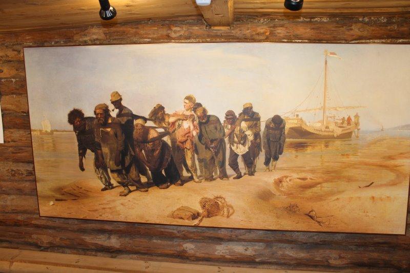 Картина Бурлаки на Волге Ильи Репина