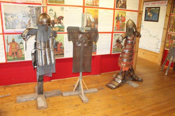 Кольчуги в историческом музее Богатырской Слободы