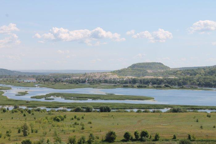Вид с Царева кургана на реку Сок