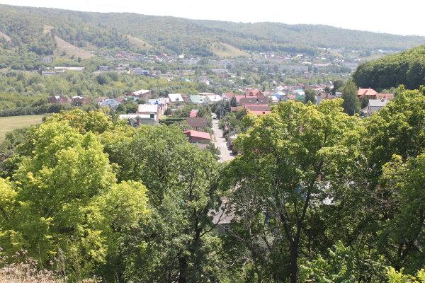 Вид на город Жигулевск с Могу́товой горы