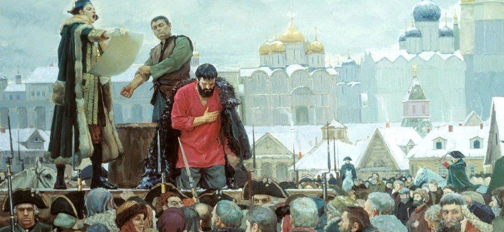 Казнь Емельян Пугачев