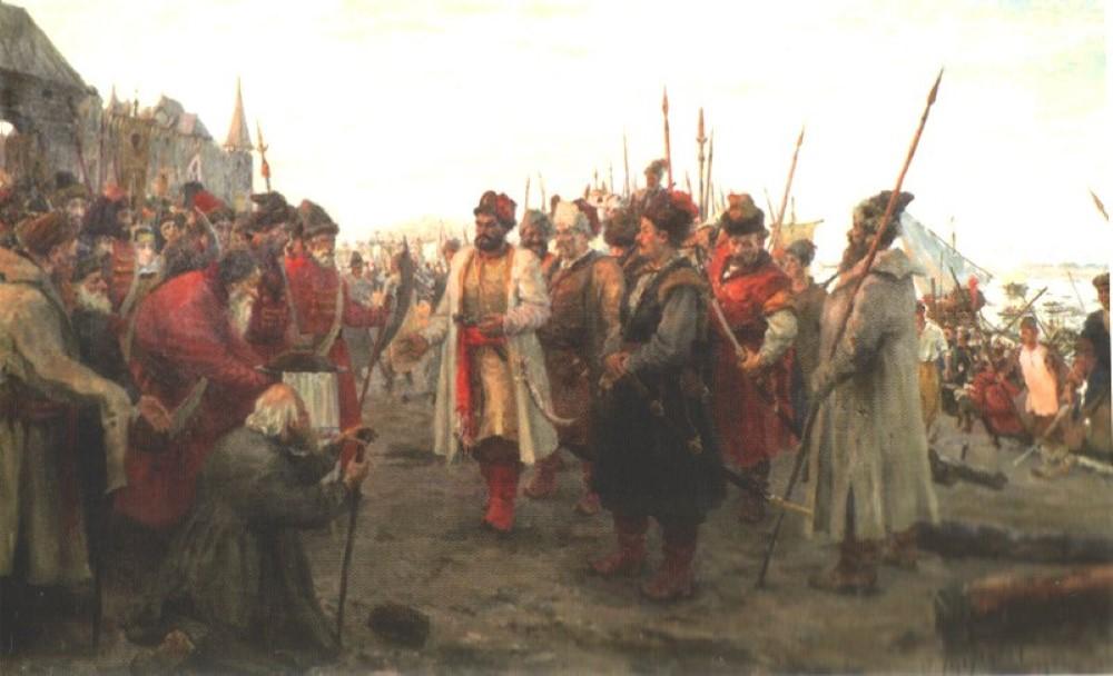 Степана Разина после взятия Самары встречают сторонники