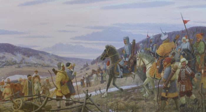Ратники Волжкой Булгарии отправляются в поход