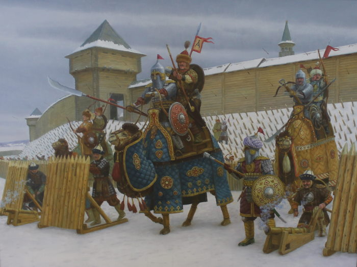 Ратники Волжкой Булгарии защищают свой город