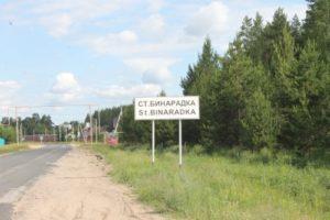 Въезд в село Старая Бинарадка
