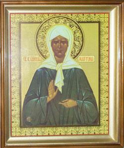 Икона с частичкой мощей святой блаженной праведной Матроны Московской