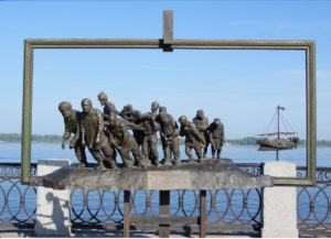 Скульптура «Бурлаки на Волге»
