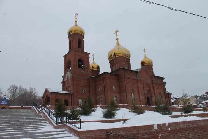 Храма в честь иконы Божией Матери «Отрада и Утешение» в Воскресенском мужском монастыре г. Тольятти