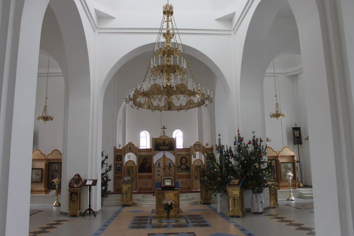 В Храме в честь иконы Божией Матери «Отрада и Утешение» в Воскресенском мужском монастыре г. Тольятти