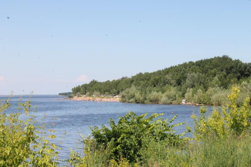 Пляж в селе Хрящевка