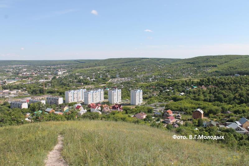 Вид на город Жигулевск