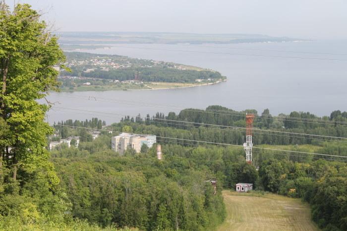 Вид с горы Светелка на село Усолье