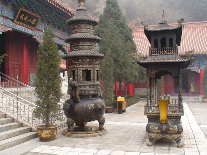 Буддийский храм на горе Лишань Китай