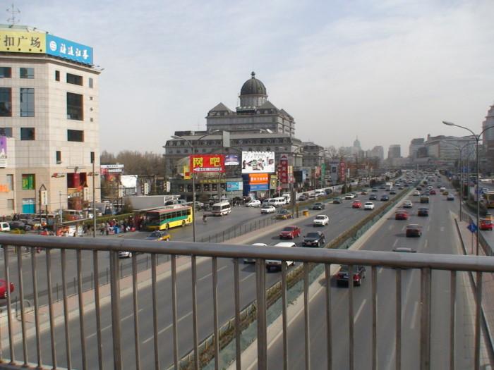 На улице города Пекина, Китай
