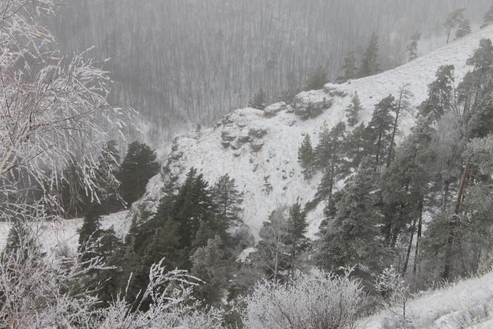 Гора Стрельная зимой