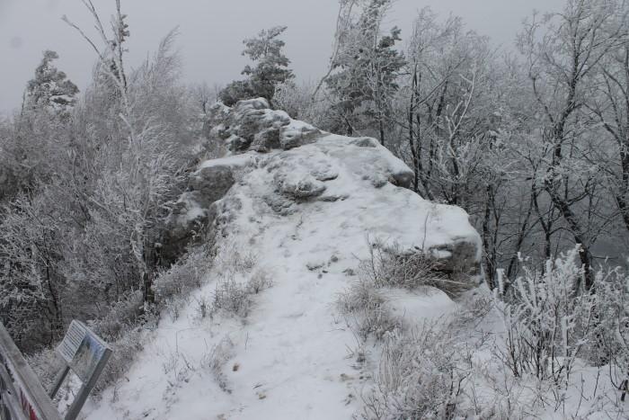 На горе Стрельной зимой