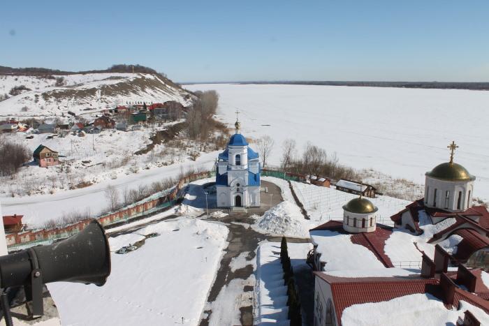 Вид с колокольни монастыря в селе Винновка