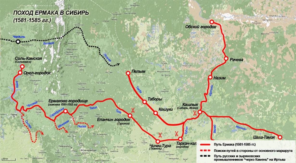 Путь Ермака по Сибирским просторам