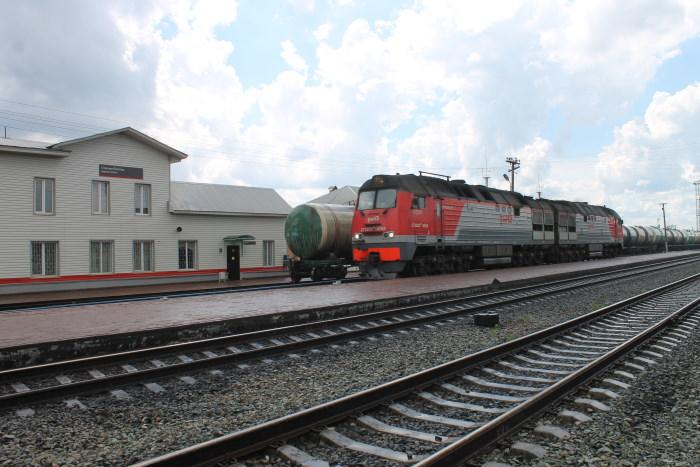 Железнодорожная станция в Селе Богатое
