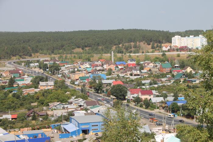 Вид с Царева кургана на поселок Волжский