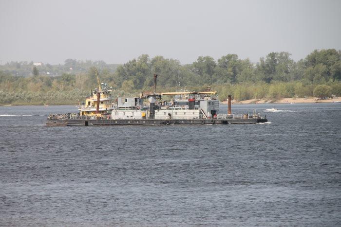 Корабли на реке Волга