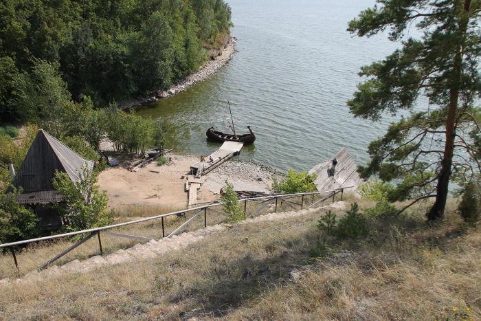 Причал на реке Уса в районе Богатырской слободы
